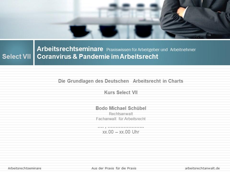01 a Select VII Coronavirus & Pandemie im Arbeitsrecht
