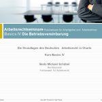 Die Betriebsvereinbarung I – Grundlagen